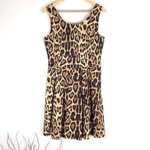 PINK TARTAN Animal Print Stretch Sleeveless Dress